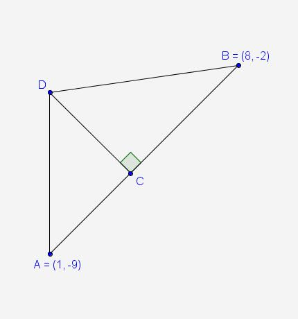 In the diagram, the areas of and are in a ratio of 3 : 4. what are the coordinates of point c? a.