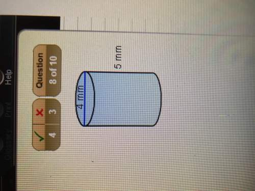Find the surface area of the cylinder.give your answer in terms of pi.