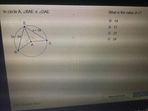 In circle a, bae dae. what is the value of x?