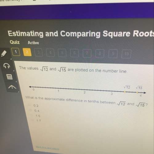 What is the approximate difference in tenths between √12 and √15?
