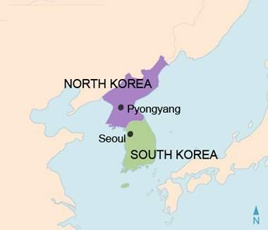 This map shows north korea and south korea today. how does this map reflect the impact of the korean