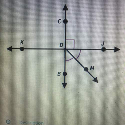 Me with geometry ! in this figure, bc is a perpendicular bisects of kj. dm is the angle bisects of