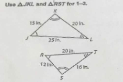 Is triangle jkl congruent to triangle rst? if so, what is the scale factor?