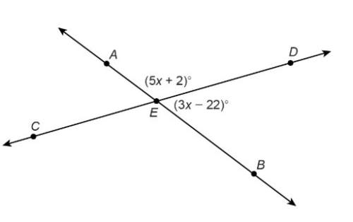 Really need ! 35 create an equation that can be used to find the value of x? hint: what type of