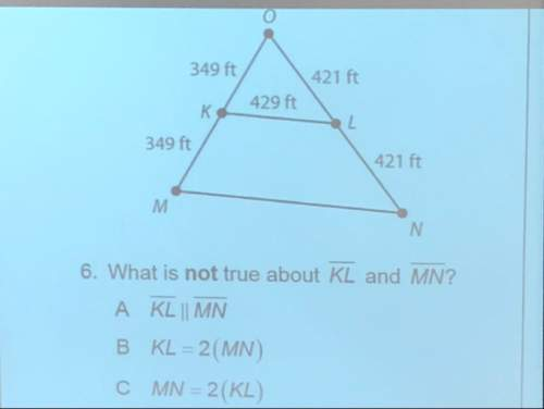 What is not true about kl and mn? what is mn? (show your work)