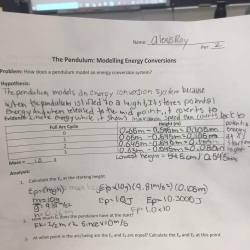 How does a pendulum model an energy conversation system?
