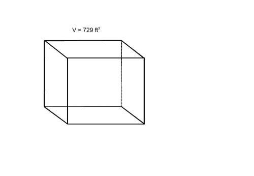 What is the surface area of a cube with the volume of 729 ft?