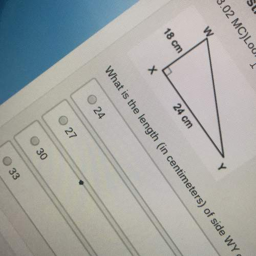 Look at triangle wxy what is the length (in centimeters) of the side wy of the triangle?