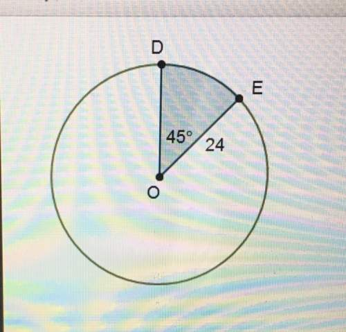 What is the area of the shaded sector?