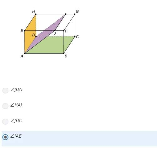 Which angle has the same measure as the dehedral angle formed by the orange face and the purple rect