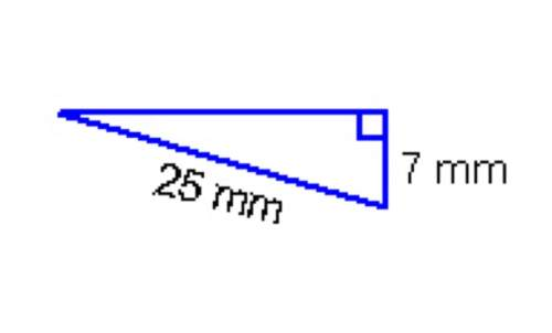 What is the length of the missing leg in this right triangle? 18 mm 24 mm 26 mm 32 mm