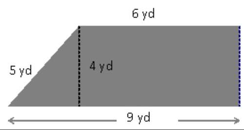 Find the perimeter of the figure shown above. a. 18 yds c. 20 yds b. 10 yds d. 24 yds select the be