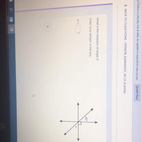 What is the measure of angle x? answer