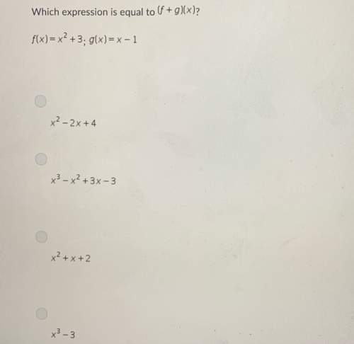 Which expression is equal to (f+g)(x)?