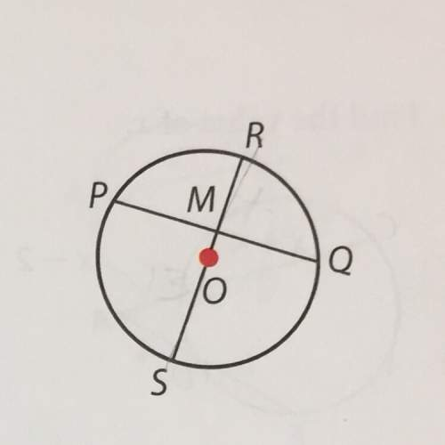 #7. m is the midpoint of pq, the diameter of the circle o is 13in. and rm = 4in. find pm find pq