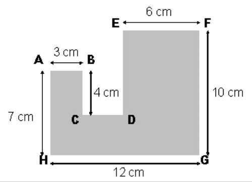 Find the perimeter of the figure shown above. a. 40 cm c. 52 cm b. 60 cm d. 75 cm select the best a