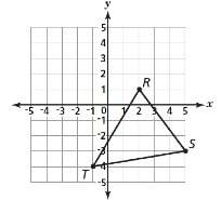 When ∆rst is translated 4 units down, what are the apparent coordinates of t'? give 15 points