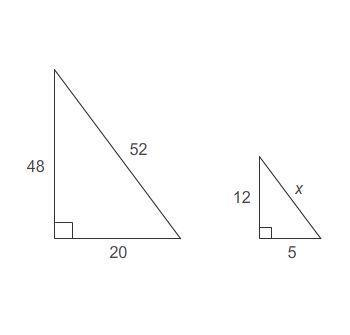 The triangles are similar. what is the value of x? enter your answer in the box.