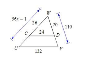 Find the length cu. the triangles are similiar.