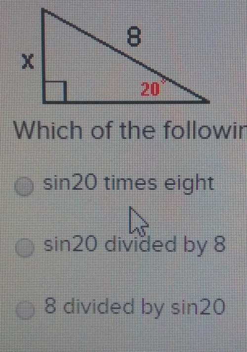Which of the following describes how to calculate the value of x?
