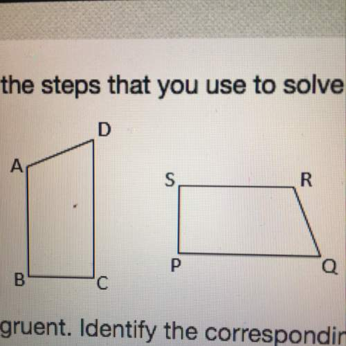 The two figure shown above are congruent. identify the corresponding sides and angles.