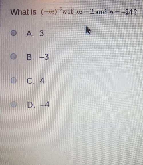 What is (-m)to the -3rd power times n if m=2 and n=-24?