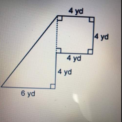 15 what is the area of this figure? a: 28 yd sq b: 40 yd sq c: 52 yd sq d: 64 yd sq