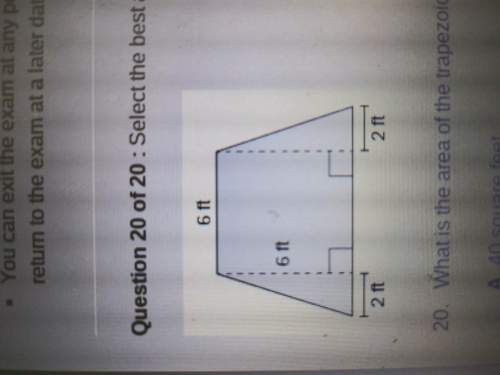 What is the area of the trapezoid shown?