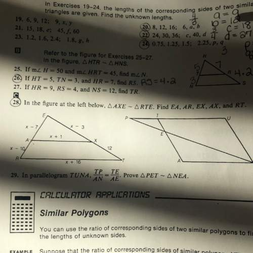 Pl e a s e h e l p! i can't find x in #28 for my homework