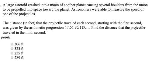Alarge asteroid crashed into a moon of another planet causing several boulders from the moon to be p