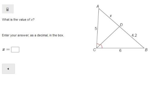 What is the value of x? enter your answer, as a decimal, in the box. x=