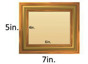 The frame is being enlarged to hang on a gallery wall. using the scale factor of 1 in = 3 ft, give t