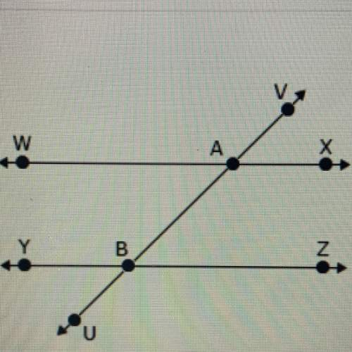 Line wx is parallel to line yz. if m