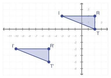 This is for a test need answer quick and brainiest if good answer triangle tri is translated horizon