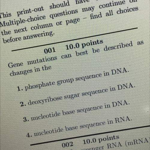 Gene mutations can best be described as changes in the