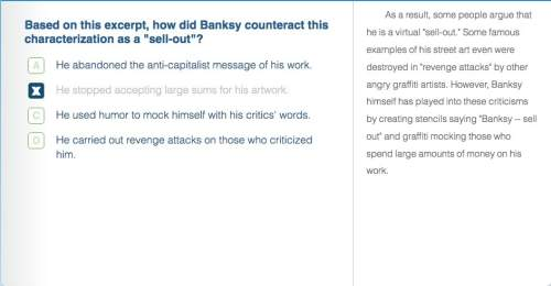 """Based on this expert how did banksy counteract this characterization as a """"sell out""""?"""