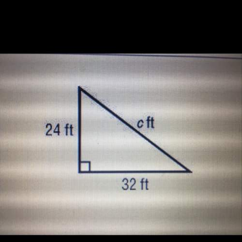 Find the length of the missing side. a) 56 ft b) 45 ft c) 42 ft d) 40 ft