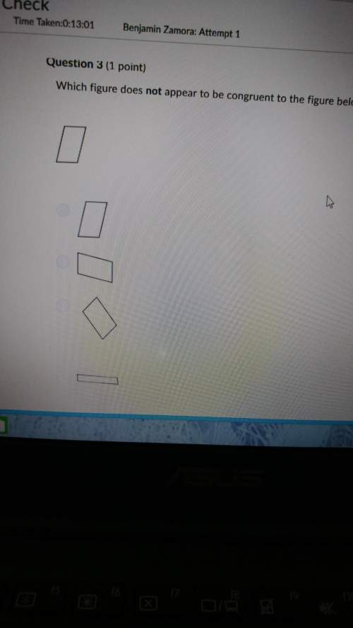 Which figure. does not appear to be congruent to the figure below