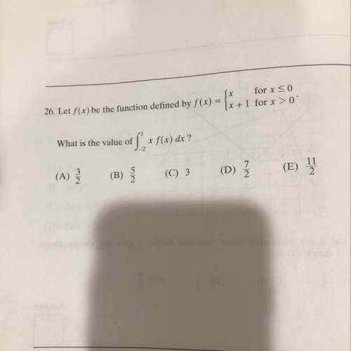 Can anyone me on this ap calc question? ?