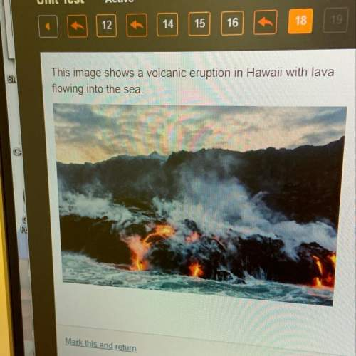 This image shows a volcanic eruption in hawaii with lava flowing into the sea. which statements best
