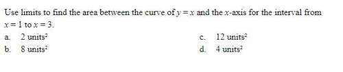 Use limits to find the area between the curve of y = x and the x-axis for the interval from x = 1 to