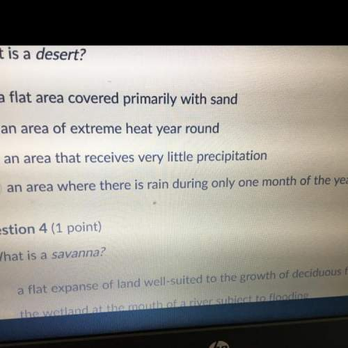 What is a desert ? just incase u can't read the screen a: a flat area covered primarily with sand