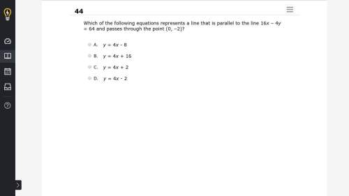 Will give brainiest which of the following equations represents a line that is parallel to the line
