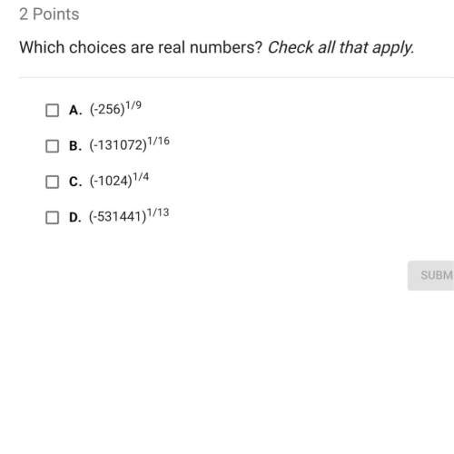Which choices are the real numbers?
