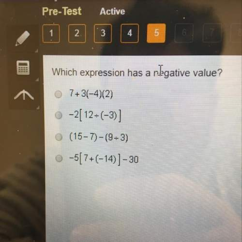 Which expression has a negative value