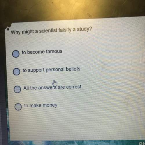 Why might a scientist falsify a study?