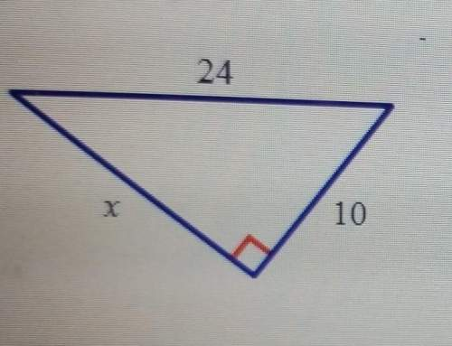 Analyze the diagram below and complete the instructions that follow.find the unknown side length, x.
