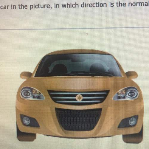 For the car in the picture ,in which direction is the normal force? -into the screen -down -out of