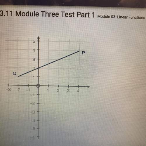 What is the slope of the line segment pq?