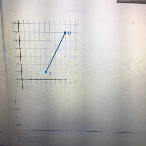 Use the image below, find the y value for the point hat divides the line segment cd into a ratio of